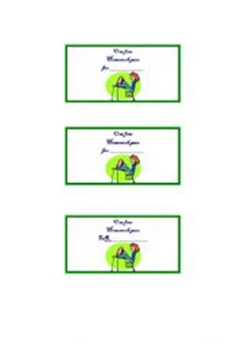 Printable Free Homework Pass Template